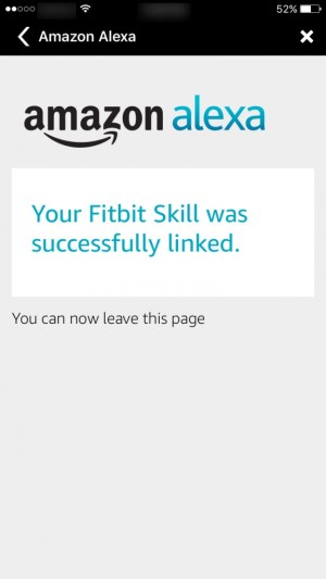 Fitbit Skill linked to Alexa