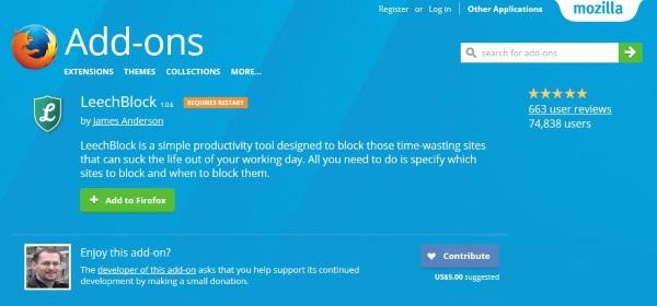 Hur man blockerar en webbplats i Firefox-3