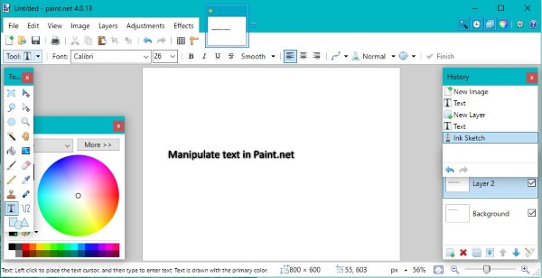 How to select and work with text in Paint.net-2