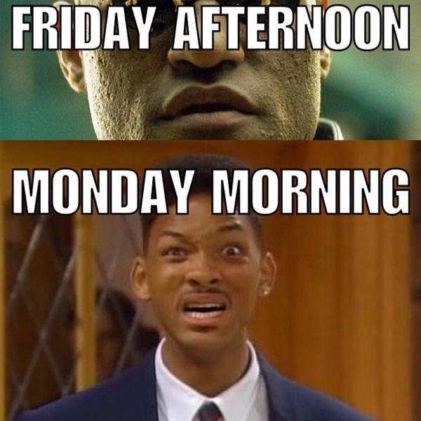 Пятница днем понедельник утром