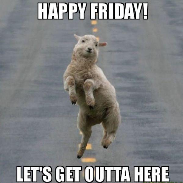 Счастливой пятницы, давай уходим отсюда