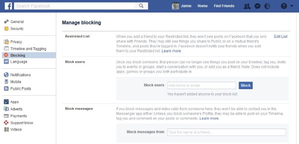 How to unfriend or block someone on Facebook3
