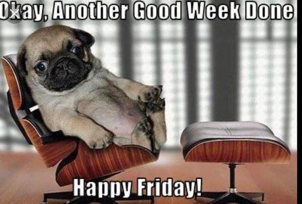 Хорошо, еще одна хорошая неделя, счастливая пятница