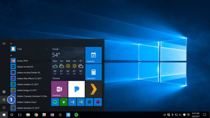 start menu settings windows 10