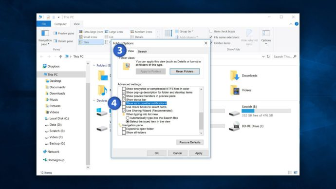 disable onedrive ads windows 10