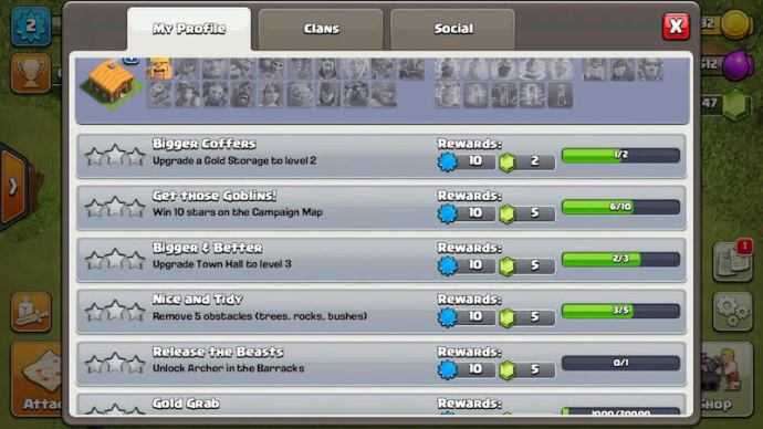 Coc-achievements