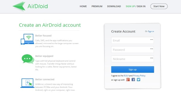 How to control Android from a PC with AirDroid2
