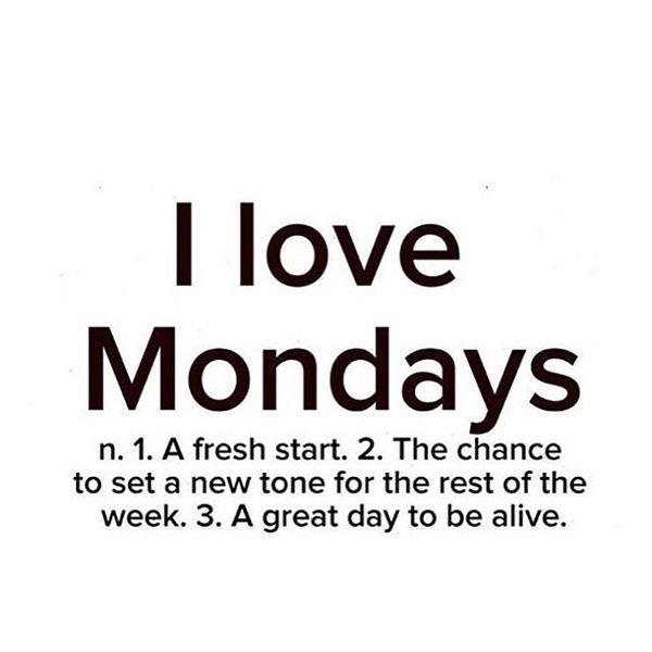 я люблю понедельники