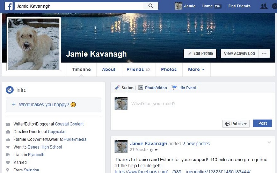 How can you see if someone has visited your facebook page