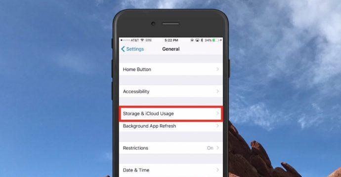 Storage & iCloud Usage