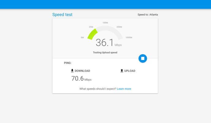 Internet Speed Test with Google Fiber