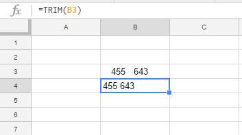 Google Sheets TRIM Function