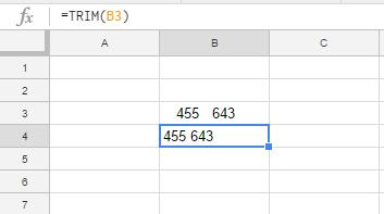 Google Sheets TRIM Function