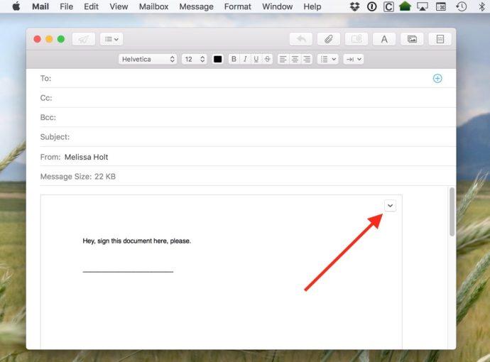 mac mail attachment options