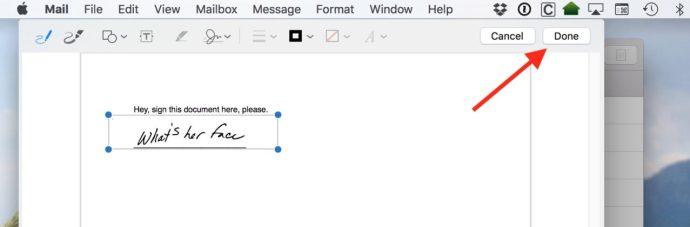 mac mail signature markup