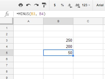 How To Subtract in Google Sheets with a Formula