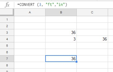 How To Convert Feet to Inches in Google Sheets