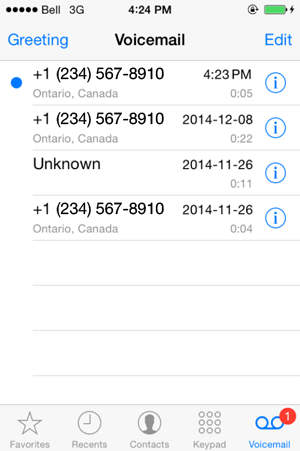 How to change your voicemail on an iphone 6s