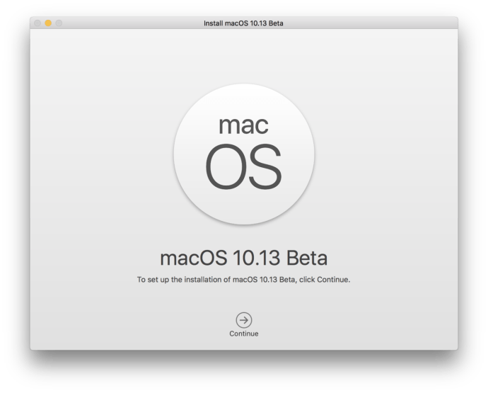 macos high sierra app installer