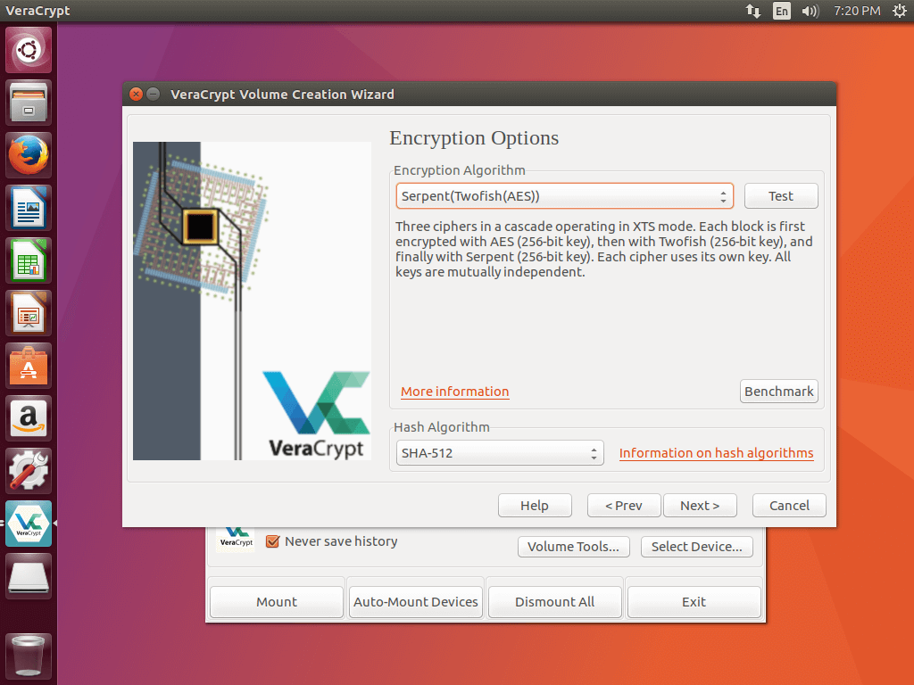 How to create an encrypted volume with VeraCrypt