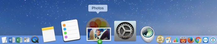 drag image photos dock mac