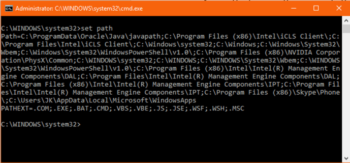 How to fix program is not recognized as an internal or