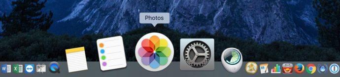 photos app mac dock