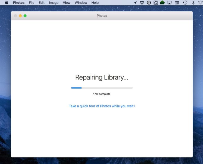 photos repair library progress