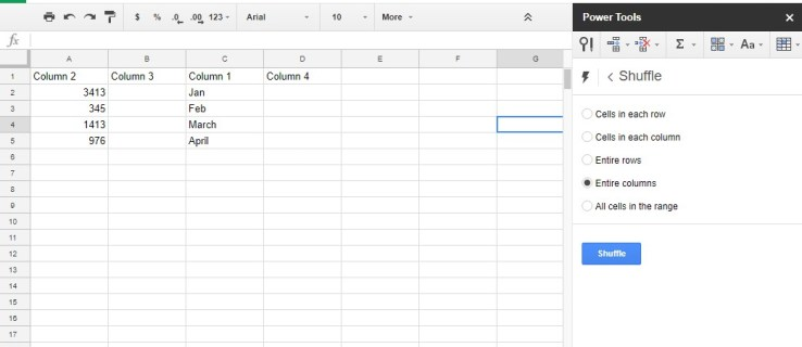 How To Swap Columns in Google Sheets