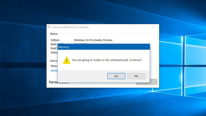 windows 10 watermark disabler warning