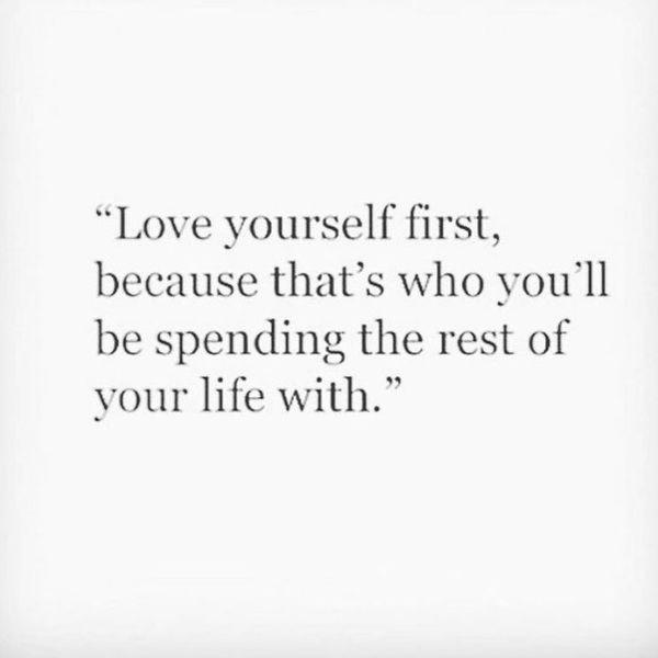 полюби себя в первую очередь
