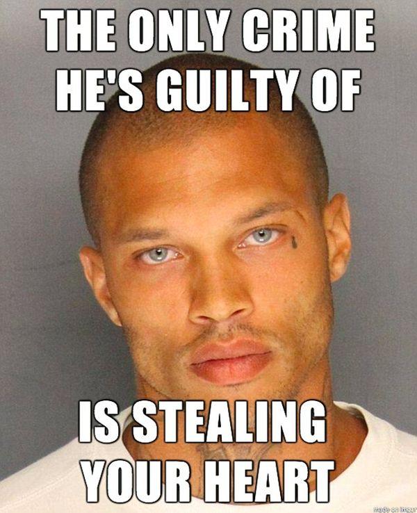 Единственное преступление, в котором он виновен, - это похищение вашего сердца.