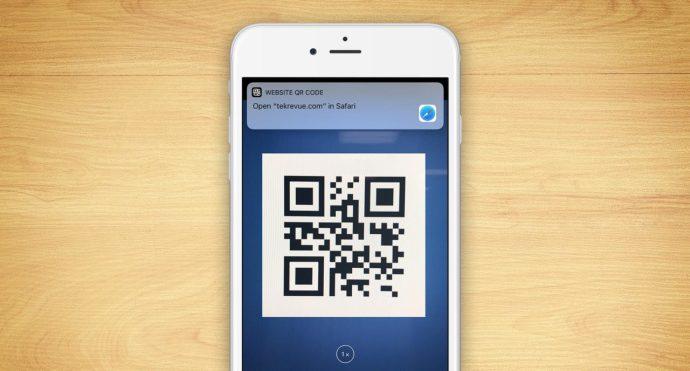 qr-kod för iPhone-skanning