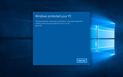 windows protected your pc