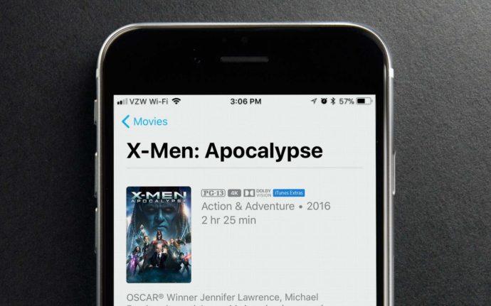 iTunes men 4k HDR