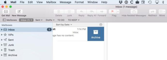 Swipe to Archive