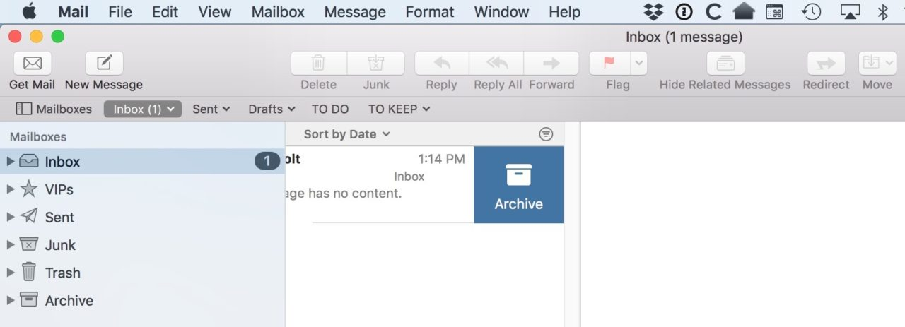 macOS: Change From Swipe to Archive to Swipe to Delete in Mail