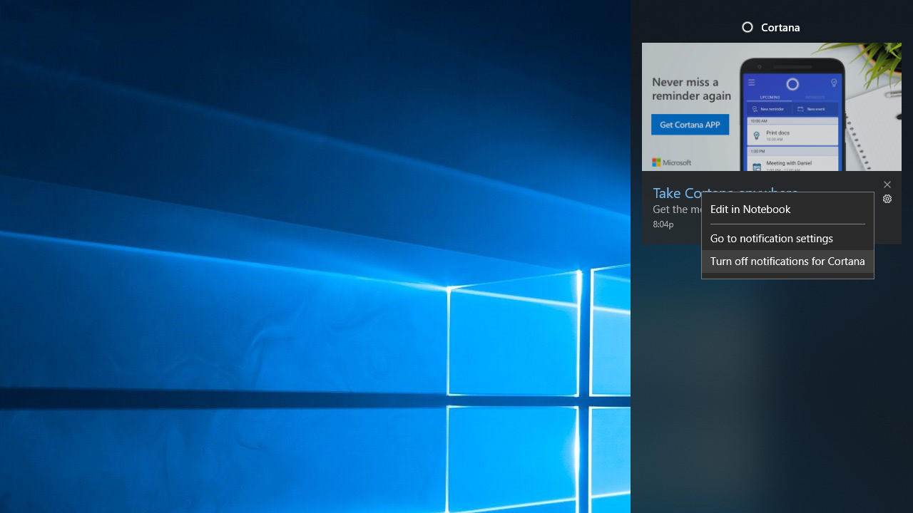 Quick Tip: How to Turn Off Cortana Notifications in Windows 10