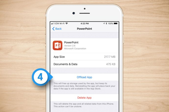 offload app iphone
