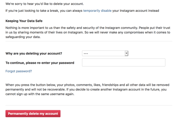 How to Reset Your Instagram Account