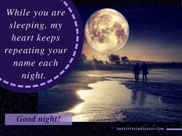 Romantic quotes good night for girlfriend 3