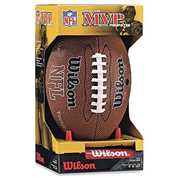 Wilson NFL MVP Junior Football with Pump and Tee