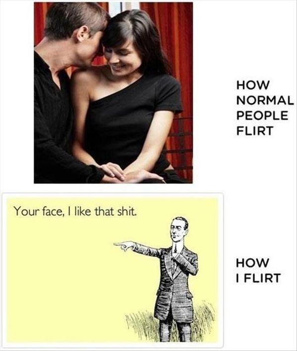 How normal people flirt.