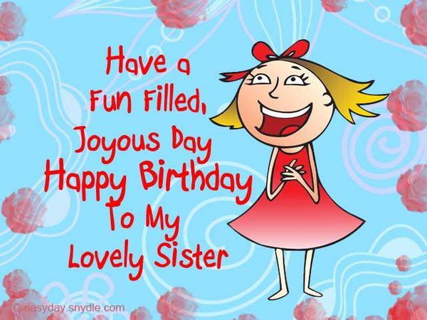 Happy birthday meme to congratulate sister