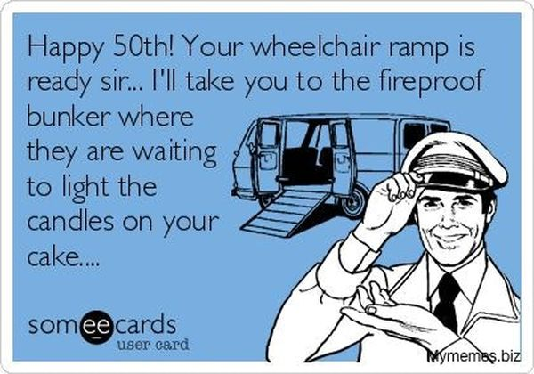 Awesome 50th birthday meme with wishes