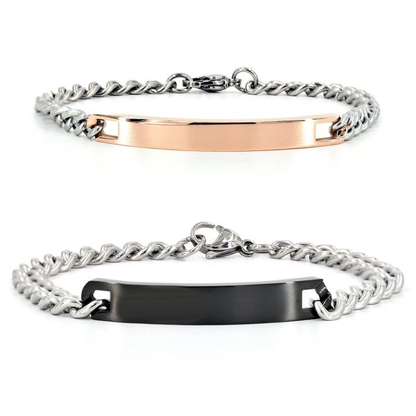 Custom Engraving Stainless Steel Bracelet