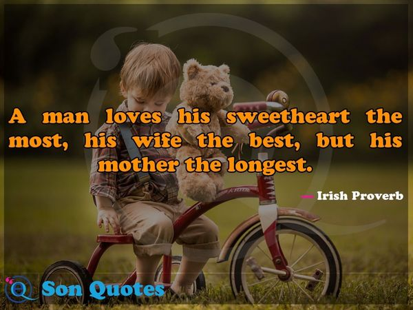 Incredible emotional quotes about love for mom and son