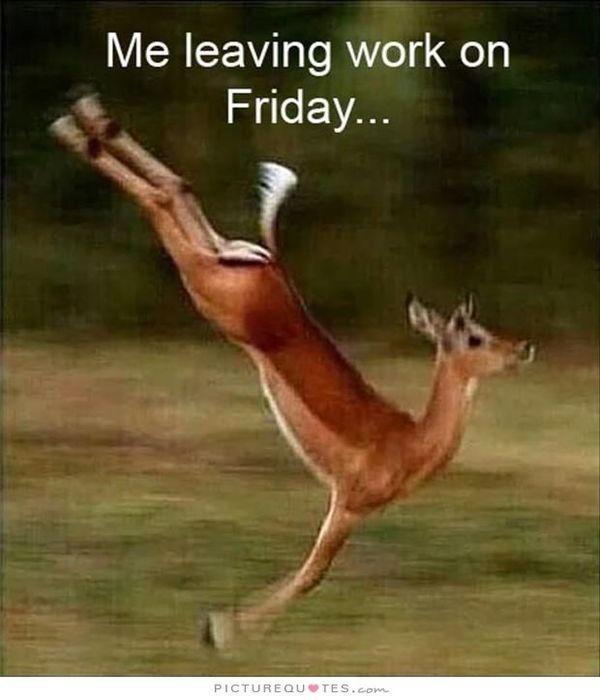 Великолепный уход с работы в пятницу мем
