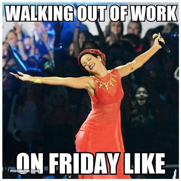 Потрясающий уход с работы в пятницу