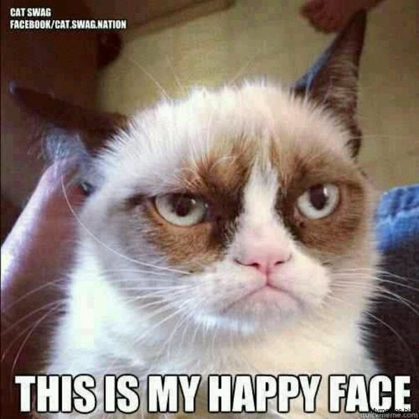 Pretty grumpy face meme